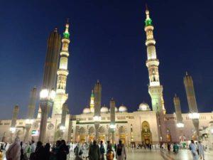 Masjid Nabawi di Madinah. (Foto : Okezone.com/Widi Agustian)